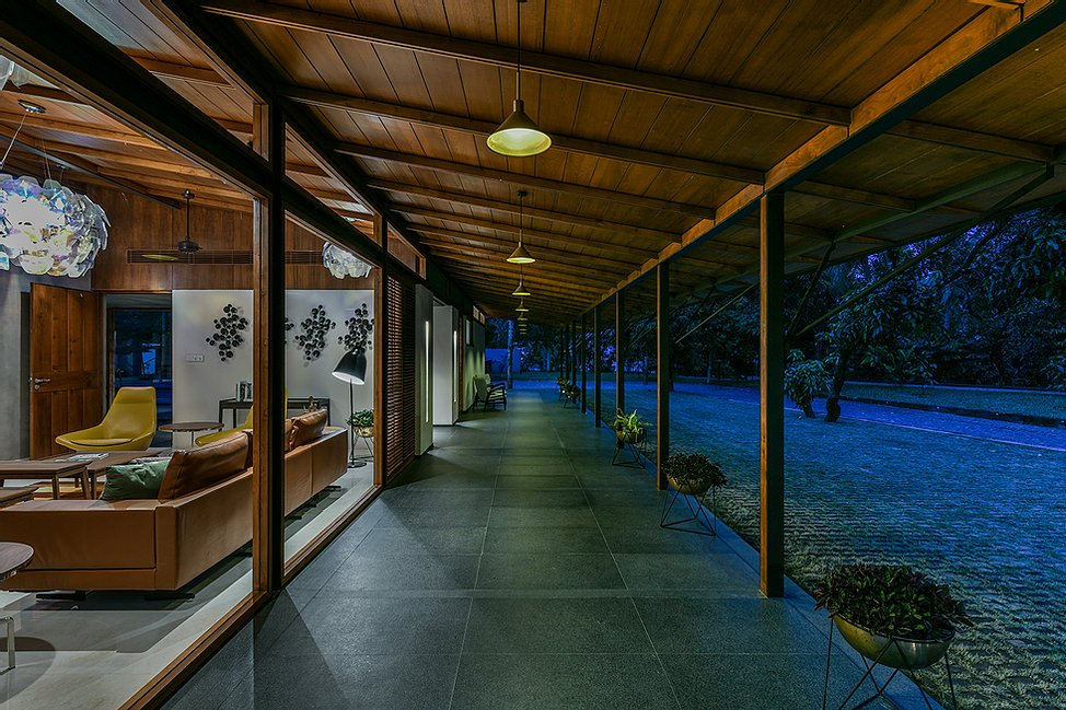 Project : The Skew House - Night View