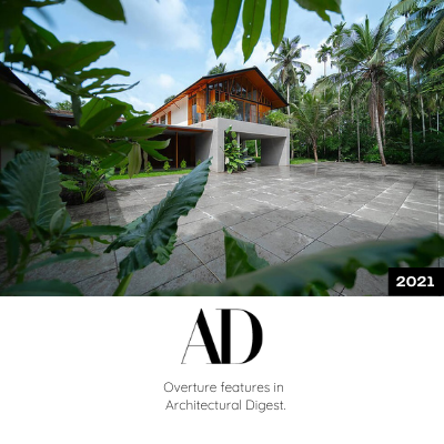 Overture features in Architectural Digest