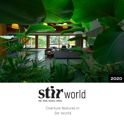Overture project is features in Stir World