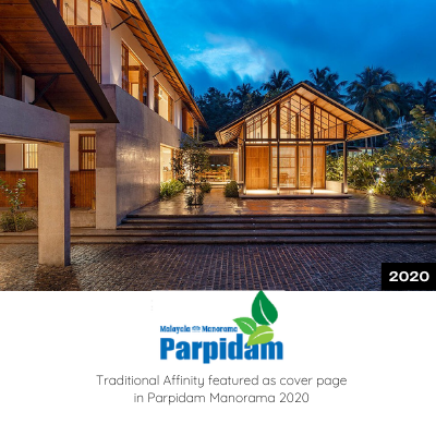 Traditional Affinity featured as Cover Page in Parpidam Manorama 2020