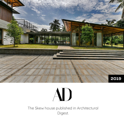 The Skew House is published in Architectural Digest
