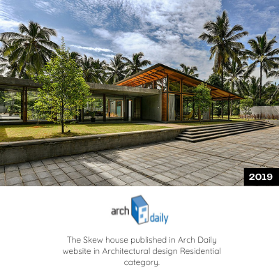 The Skew House is published in Arch Daily