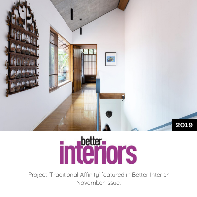 Traditional Affinity Featured in Better Interior November Issue